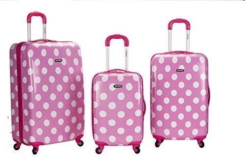 rockland-3-piece-laguna-beach-upright-luggage-set-pink-dot-one-size