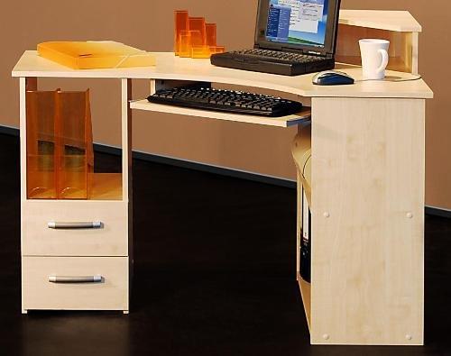 PC-Tisch ahorn dekor - Eck Schreibtisch ahorn dekor - 524