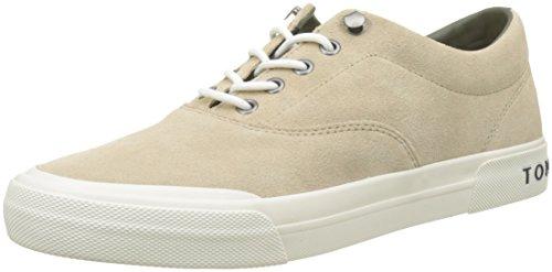 Tommy Hilfiger Heritage Suede Sneaker, Zapatillas para Hombre, Beige (Sand 102), 43 EU