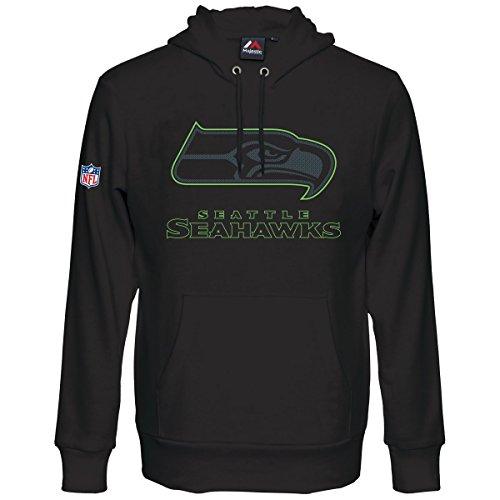 NFL Football Hoody Hoodie Kaputzenpullover Sweater SEATTLE SEAHAWKS Heathly hooded (M)