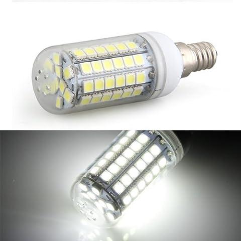 TOOGOO(R) Bombilla Lampara Luz Blanco E14 8W 69 LED 5050 SMD AC 220V Bajo Consumo