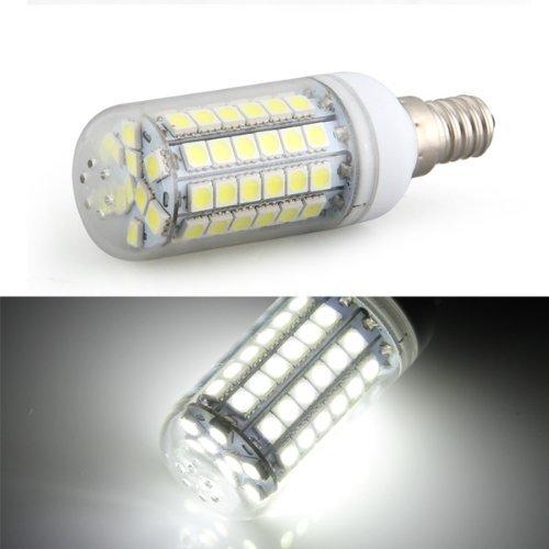 Sonline Bombilla Lampara Luz Blanco E14 8W 69 LED 5050 SMD AC 220V Bajo Consumo