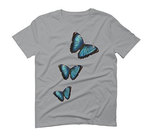 Morpho hyacintus butterflies Men's Graphic T-Shirt - Design By Humans Opal