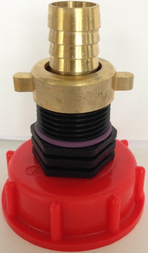 CMTech GmbH Montagetechnik Ams60_135 98 auslaufadapter avec messingtülle avec écrou-conteneur iBC adaptateur mamelon-cANISTER