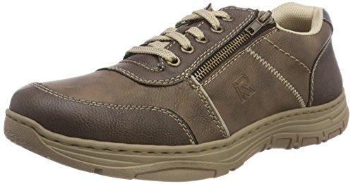 Rieker Herren 16300 Sneaker, Braun (Schoko/Kaffee/Ice/Royal 27), 47 EU
