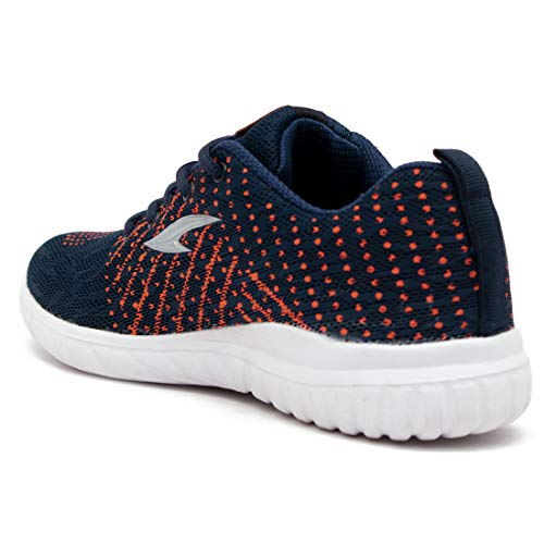 ASIAN Swift-09 Navy Orange Running Shoes,Gym Shoes,Training Shoes,Walking Shoes,Sports Shoes for Men UK-7