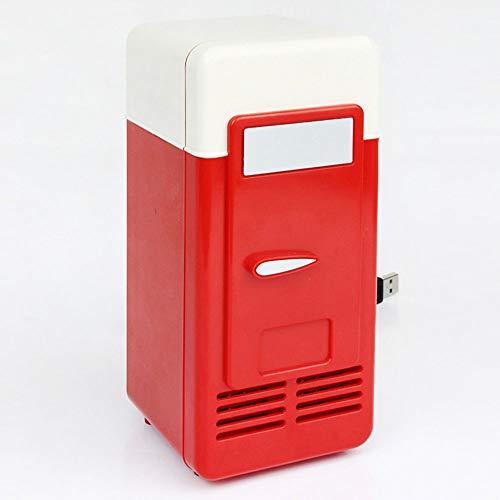 XDLUK USB-Mini-Kühlschrank mit Gefrierfach zum Fahren, Reisen, Angeln, Kompaktkühler, Kleiner Kühlschrank für Autos, Autoreisen (Reise-kühlschrank Mit Gefrierfach)