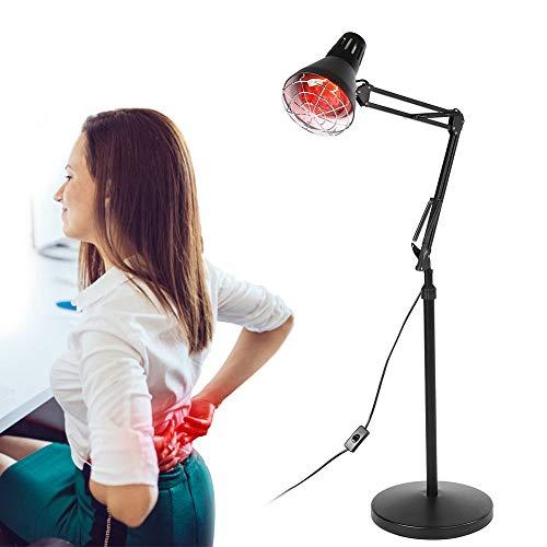 Infrarotlampe Wärmelampe Rotlichtlampe mit Fußboden Stand, 275W Rotlicht Strahler Infrarotlichttherapie für Körper Muskel Schmerzlinderung Behandlung, Intelligente Timing Einstellbare Temperatur