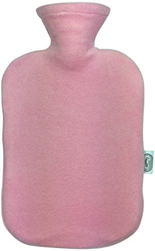 Larovita Wärmflasche mit Bezug waschbar flauschig 2 L fashy TÜV Süd geprüft Baby Kinder Bettflasche geruchsneutral (rosa)