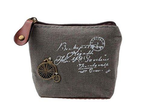 Sixlus Damen-Münztüte-Schlüsseltasche-Änderungs-Geldbeutel-Reißverschluss-Kleine Geldbeutel-Geldbörsen für Münzen-Bargeld-Karten