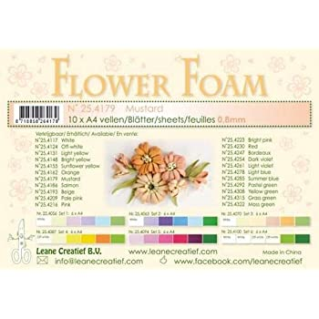 10 FOGLI di foamiran A4 verde muschio SPESSORE 0,8 mm MOOSGUMMI per fiori Foa...