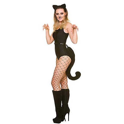 Adults Giant Cat Ears & Tail Animal Halloween Fancy Dress Accessory Set (Fancy Halloween Jungen Dress)