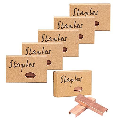Lot de 4/6 agrafes standard en or rose pour agrafeuse Taille...