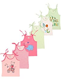 OHMS Baby Cotton Jablas Knot Tops (1006_Pink-Green-Nb_3-6 M)