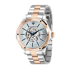 Reloj para Hombre, Colección Circuito, en Acero, PVD Oro Rosa –