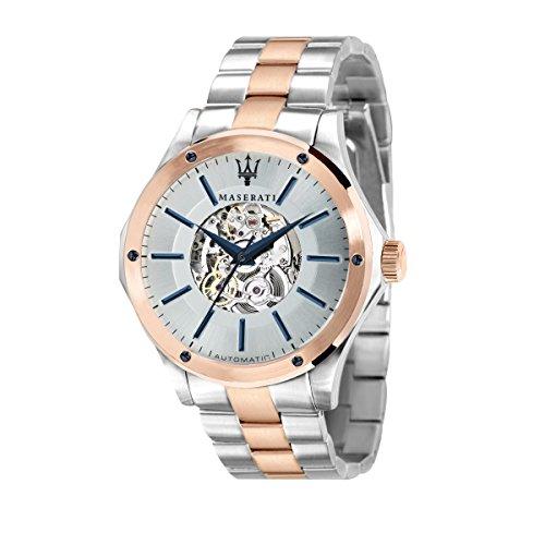MASERATI Reloj Analógico para Hombre de Automático con Correa en Acero Inoxidable R8823127001