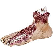 Abgetrennte Gliedmaßen Halloween Deko blutiger Fuß Abgerissenes Körperteil Wunde