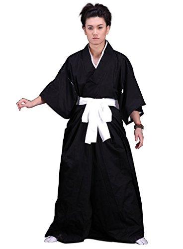 Kostüm Rukia Kuchiki Cosplay - mtxc Herren Bleach Cosplay shihakusho 1. Original Ver, Schwarz