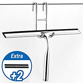 ecooe Tergicristallo per doccia in acciaio inossidabile con tergivetro da 31 cm Tergivetro per doccia in acciaio…