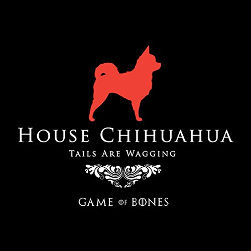 Game Of Bones House Chihuahua Game Of Thrones Parody Women's Hooded Sweatshirt Black