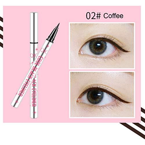 Eyeliner liquide Waterproof Eyeliner,Crayon pour Les Yeux Waterproof Longue Tenue,Séchage Rapide Precise Eyeliner Pencil Pen (café)