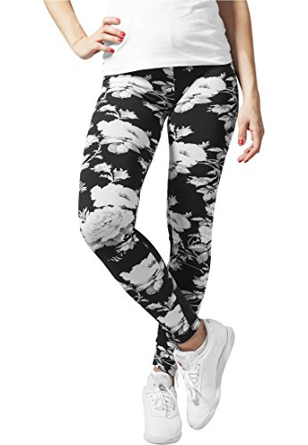 Urban Classics Ladies Flower Leggings Leggings nero L