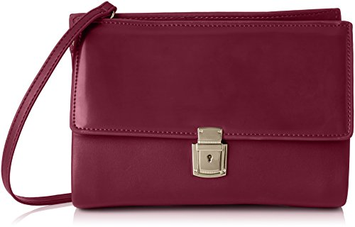 french-connection-clean-pu-carina-clutch-pochettes-femme-violet-violett-dark-magenta-60-25x18x8-cm-b