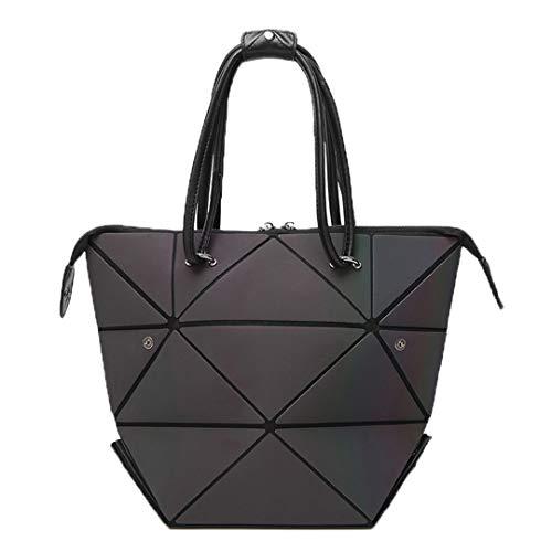 Luminous Geometric Fold Over Bag Damen Handtasche Designer Diamond Lattice Woman Umhängetaschen Luminous -