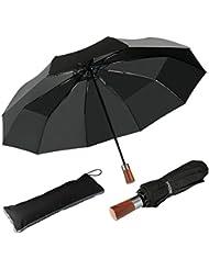 Parapluie Pliant Automatique Parapluie Classique Pliable de voyage, Résistant Au Vent de 60 Mph, Solide Incassable, Automatique Ouverture et Fermeture (Noir) …