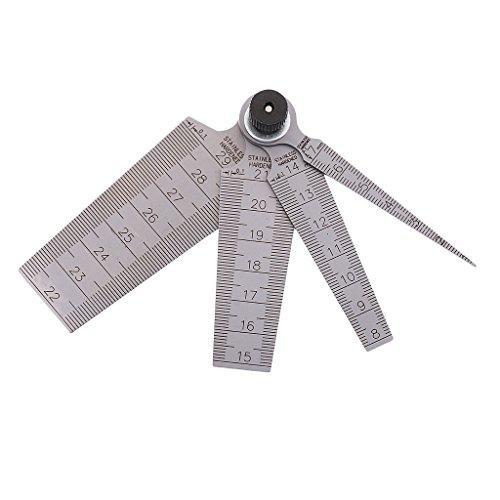 Sharplace 4-in-1 Edelstahl Lochlehre Prüflehre Kegel Messlehre, metrisch 0-29 mm