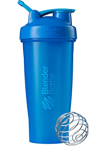 BlenderBottle C01629 Plastic Classic Loop Top Shaker Bottle, 825 ml (Cyan)