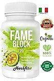 Herbfit FAME BLOCK | 120 tabletas adelgazantes fuertes y eficaces para quemar...