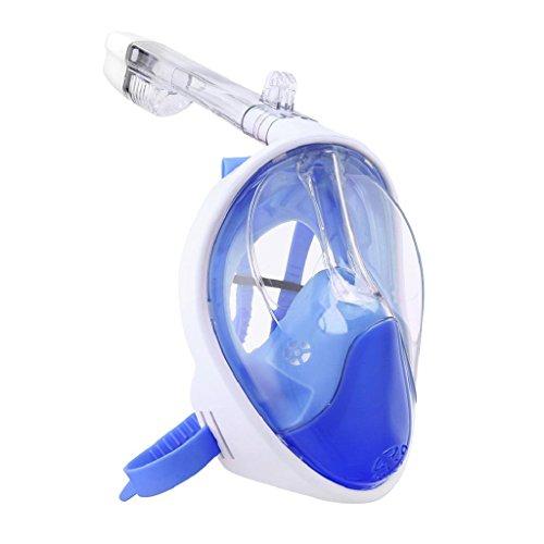 Schnorchel-Maske, 12shage Faltbare Anti-Fog vollständig Trocken Tauchen Maske Schwimmen Vollmaske Schnorcheln Werkzeug (Blau)