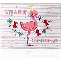 Accentra Adventskalender Flamingo Für Mädchen Mit 24 Bade-, Körperpflege Und Accessoires Produkten Für Eine…