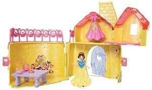 Disney Princesses - W5613 - Poupée et Mini-Poupée - Château Royal Magiclip - Blanche Neige