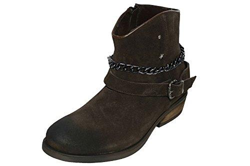 Replay Kingston Stiefel Stiefeletten Boots Damen Leder , Farbe:dunkelbraun;Schuhgrößen:36