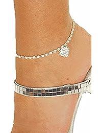 Adroit Fußkette Fußkettchen Silberfarben Lila Strass 24 Cm Online Shop Fashion Jewelry