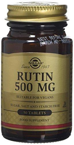 Solgar 500 mg Rutin Tablets - 50 Tablets Test
