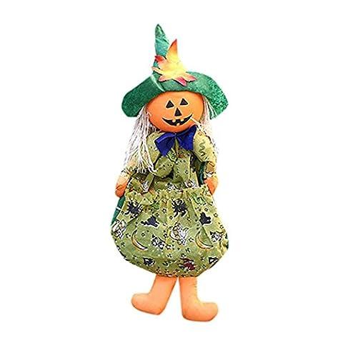 Hirolan Halloween Puppe Ornaments Kinder Geschenke Szene Dekoration Hexe Kürbis Geist Ornaments (random)