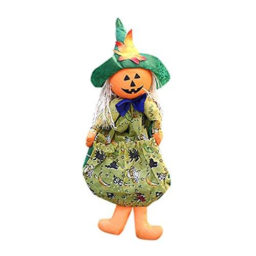 Hirolan Halloween Puppe Ornaments Kinder Geschenke Szene Dekoration Hexe Kürbis Geist Ornaments (Kostüm Diy Tank Girl)