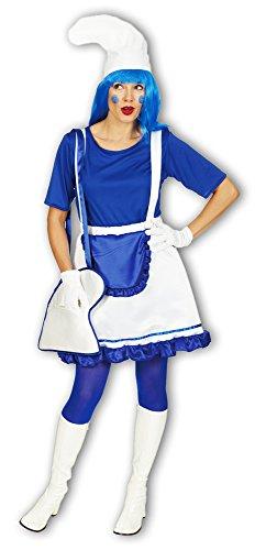 Zwergen Gnom Wichtel Kostüm Girly Damen Clown - Gr. 48 50