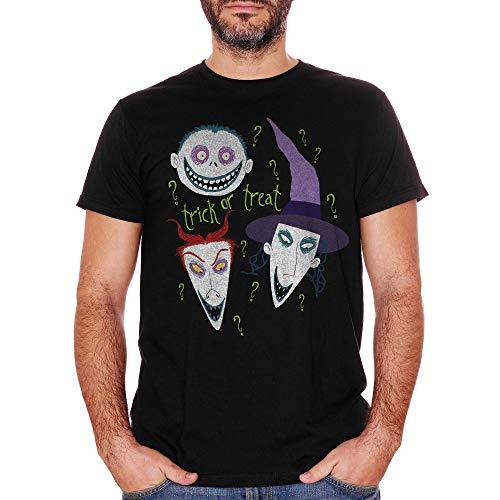 T-Shirt Halloween Trick Or Treat Nightmare Before - Film Choose ur Color - Baby-XL-Schwarz (Netflix Von Halloween-filme)