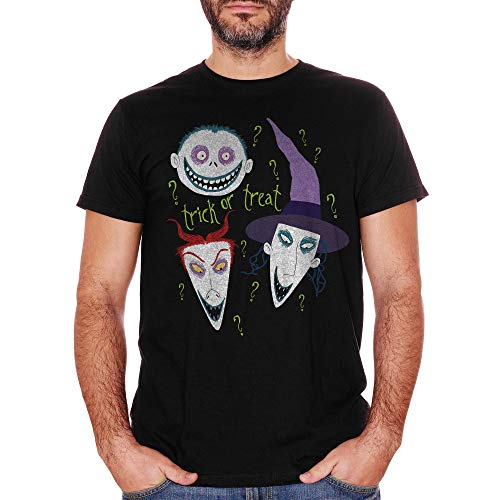 T-Shirt Halloween Trick Or Treat Nightmare Before - Film Choose ur Color - Baby-XL-Schwarz