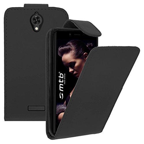 mtb more energy Tasche/Flip-Case für Coolpad Modena 2 E502 (Y83-U00, 5.5'') | Schwarz | Kunstleder | Nach unten aufklappbar