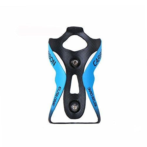ellta eine neue kohlefaser flaschenhalter, mountain - bike - straße fahrrad wasserflasche käfig 3k glanz, kein logo (Matte) (blau matte)