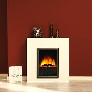 albero-möbel GmbH Elektrokamin Detroit 6523.060 Hingucker brillantweiss Flamm- und Gluteffekt modern