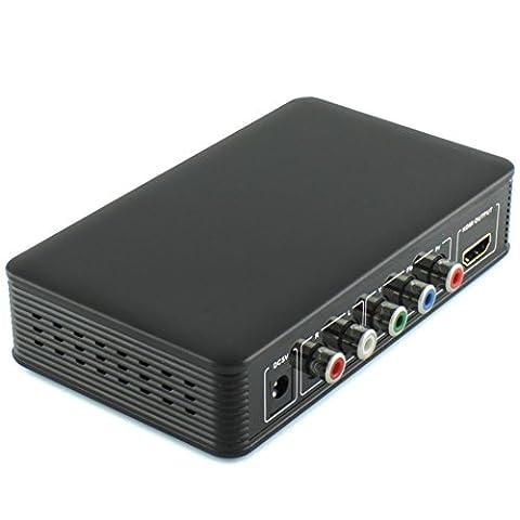 Ligawo ® YPbPr HDMI Konverter - Cinch Component zu HDMI Konverter Adapter Wandler + Cinch rot/weiß Audio zu HDMI + Signalverstärkung + 1080p und