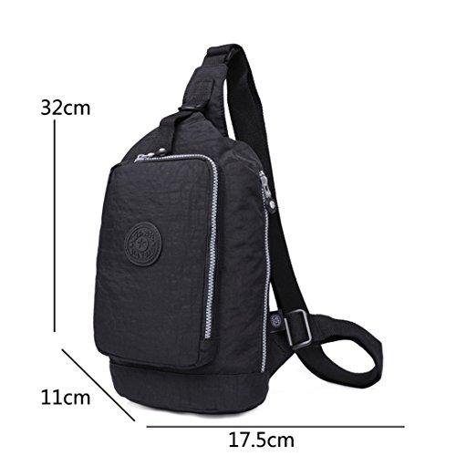jothin Los Hombres al aire libre di nylon della borsa di spalla di sport all' aria aperta dei escursione borsa del Messenger Los Hombres De 17.5x 32x 11cm (L * H * W), rosso, 17.5X32X11cm (L * H *  nero