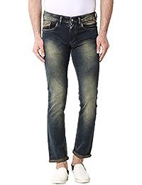 Kozzak Blue Solid Slim Fit Stretchable Jeans For Men