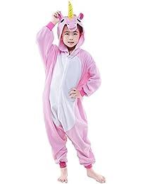 Pijama de invierno Unicornio Disfraz Manga Larga Monos Dibujos para Niños Niñas Ropa De Noche Para Festival de Carnaval Halloween Navidad